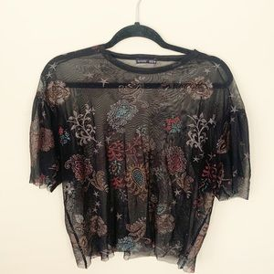 Zara Collection Black Top Like New